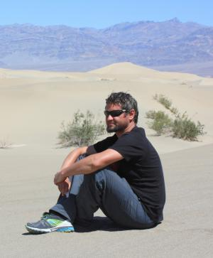 Dr Michał Zatoń w Death Valley w Kalifornii, USA